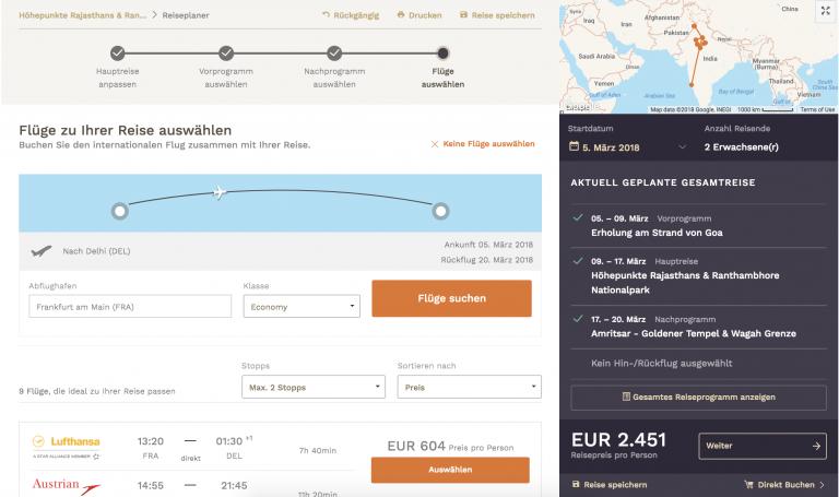 Fernreisen selbst online gestalten mit Viamonda.de